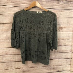 Anthropologie MOTH open knit cropped sweater